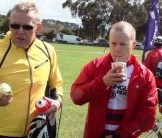 Fuelling up at the finish of Kinglake 2011