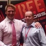 Dr Paul Cribb & me presenting at Mega Training