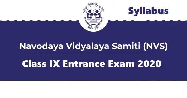 Class IX Lateral Entry Syllabus Navodaya - Stud Mentor