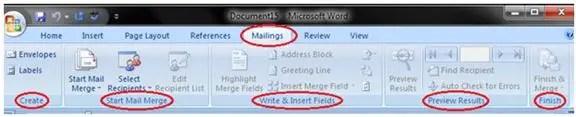 Mailing Tab