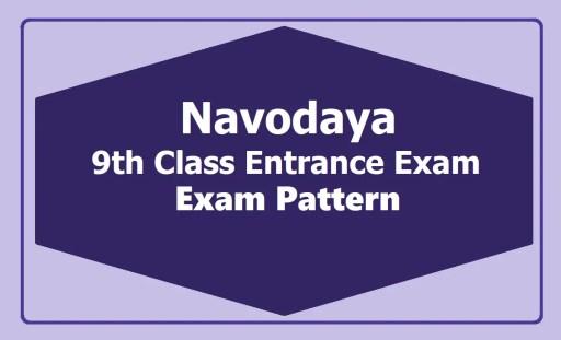 Navodaya-9th-Class-Entrance-Exam-Pattern-2020