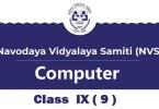 Navodaya-Computer-Syllabus-Class-IX