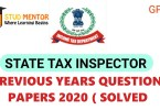 STI GPSC STATE TAX INSPECTOR 2020 QUESTION PAPERS
