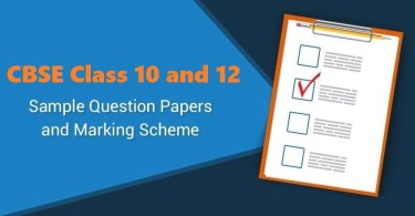 Class 10 and 12 Sample Question Paper & Marking Scheme for Exam 2020-21
