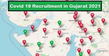 Covid 19 Recruitment in Gujarat District Wise 2021