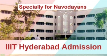 IIIT Hyderabad specially for navodayans 2021