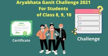 How to Register Steps for Aryabhata Ganit Challenge (AGC) 2021