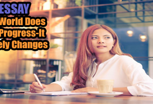 The World Does Not Progress-It Merely Changes