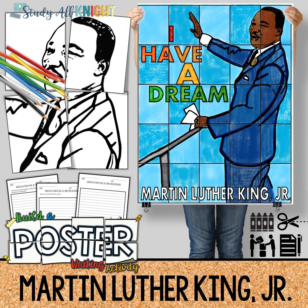 Martin Luther King Jr Collaborative Poster Writing