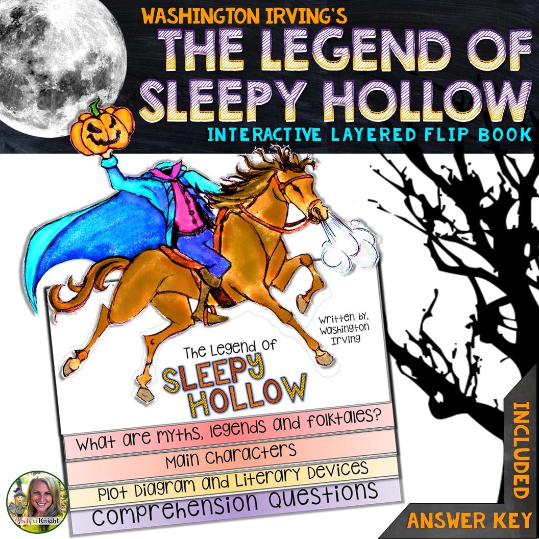 The Legend Of Sleepy Hollow Reading Writing Flip Book