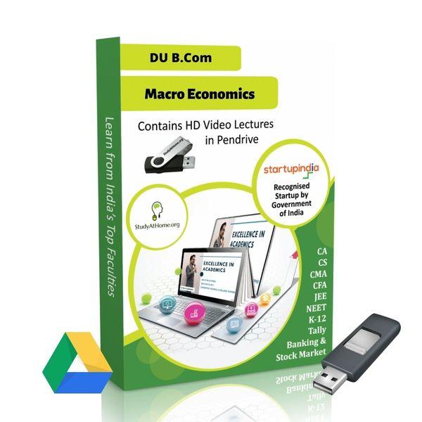 Macro Economics for B.Com DU (Delhi University) by CA Aishwarya Khandelwal Kapoor