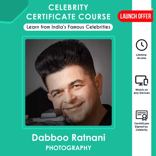 Photography Certificate Course by Dabboo Ratnani