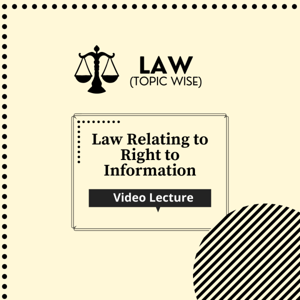 Law relating to Right to Information