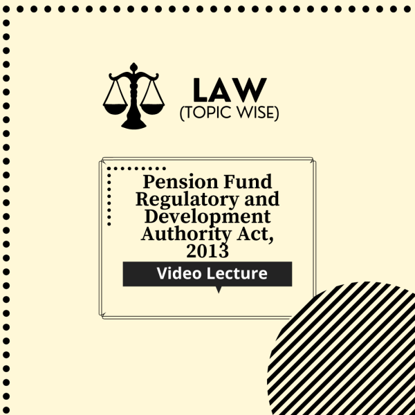 Pension Fund Regulatory and Development Authority Act, 2013