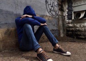 Bullying, sad teen