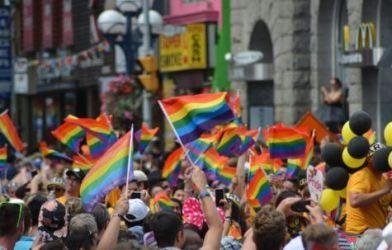 LGBT pride flags
