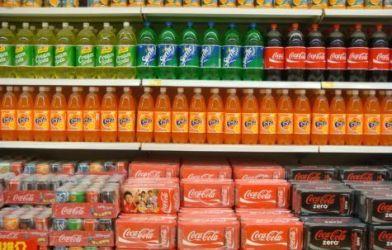 Soda aisle at supermarket