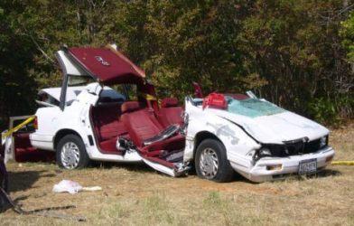 Car destroyed in crash