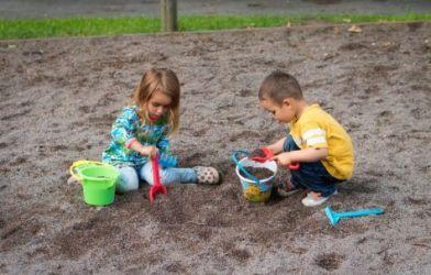 Children playing in sandbox