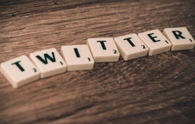 Twitter in Scrabble tiles