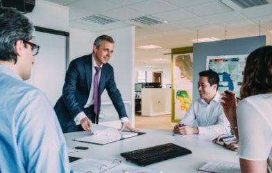 Work meeting in office
