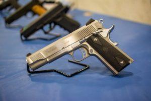 Handgun on display