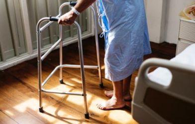 Elderly patient with walker