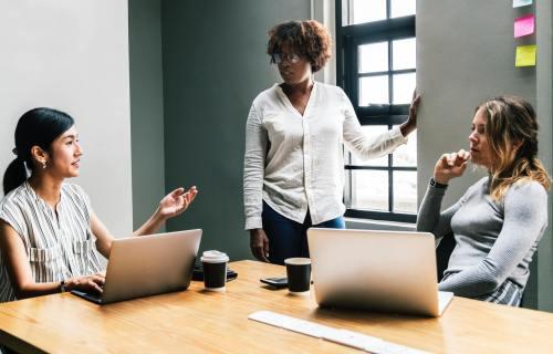Women having meeting at work