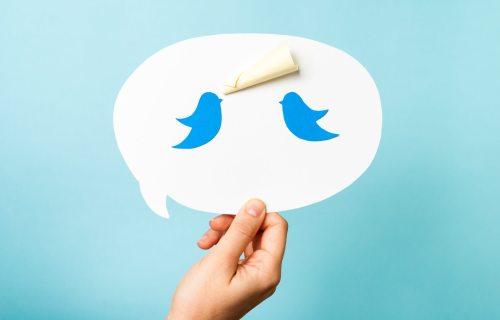 Twitter tweets between two people