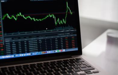 Stocks, stock market on computer