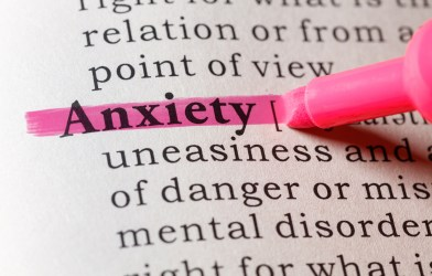 Anxiety in dictionary
