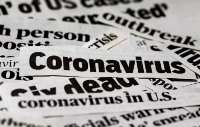 Coronavirus newspaper clippings