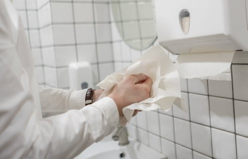 Paper Towels after washing hands