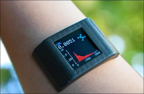 Smartwatch with adhesive film monitors metabolism