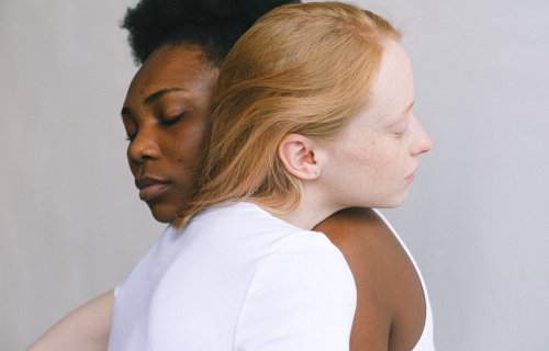 Couple in love: Women hugging each other