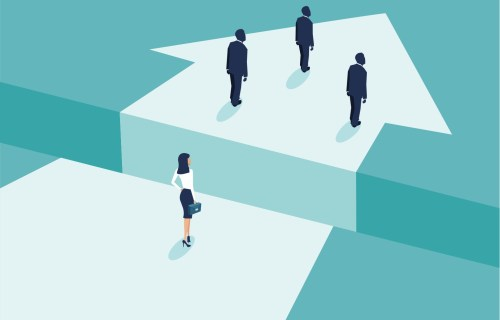 Gender gap among men, women in business