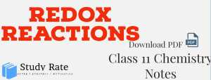 Read more about the article Redox Reactions Notes Class 11 Chemistry Notes- Download PDF for JEE/NEET