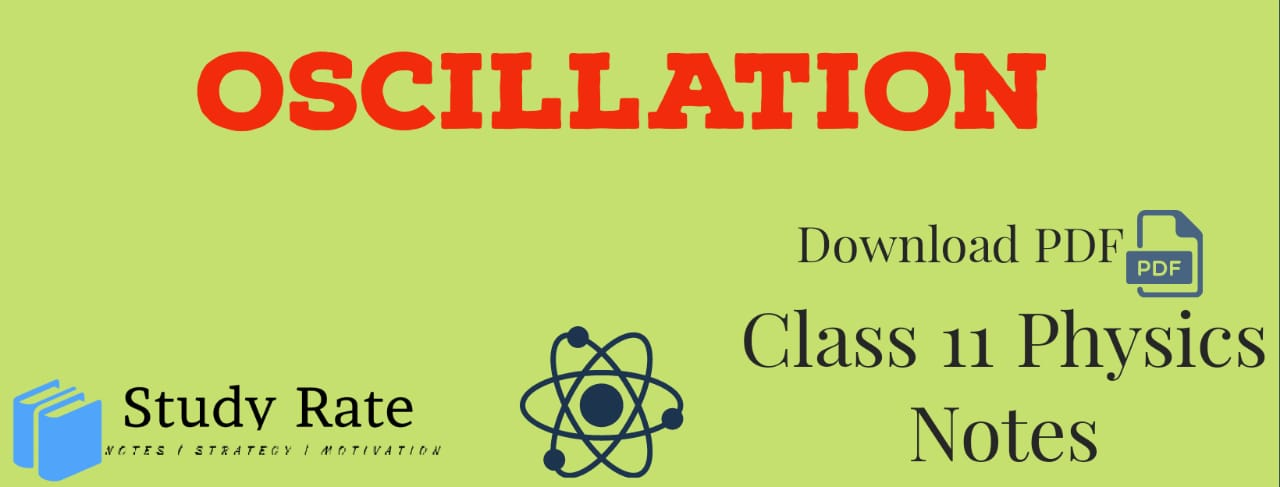Oscillations Class 11 Notes Physics Notes – Download PDF for JEE/NEET