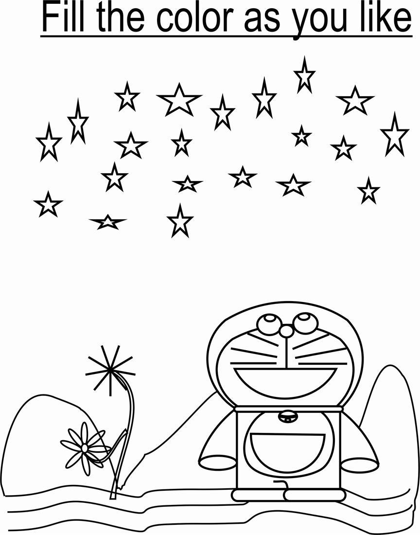 Doraemon Coloring Pages Pdf Images