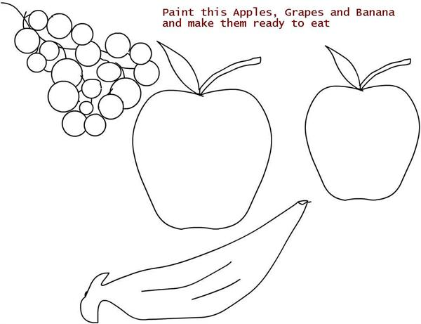 Fruits Coloring Printable Page For Coloring