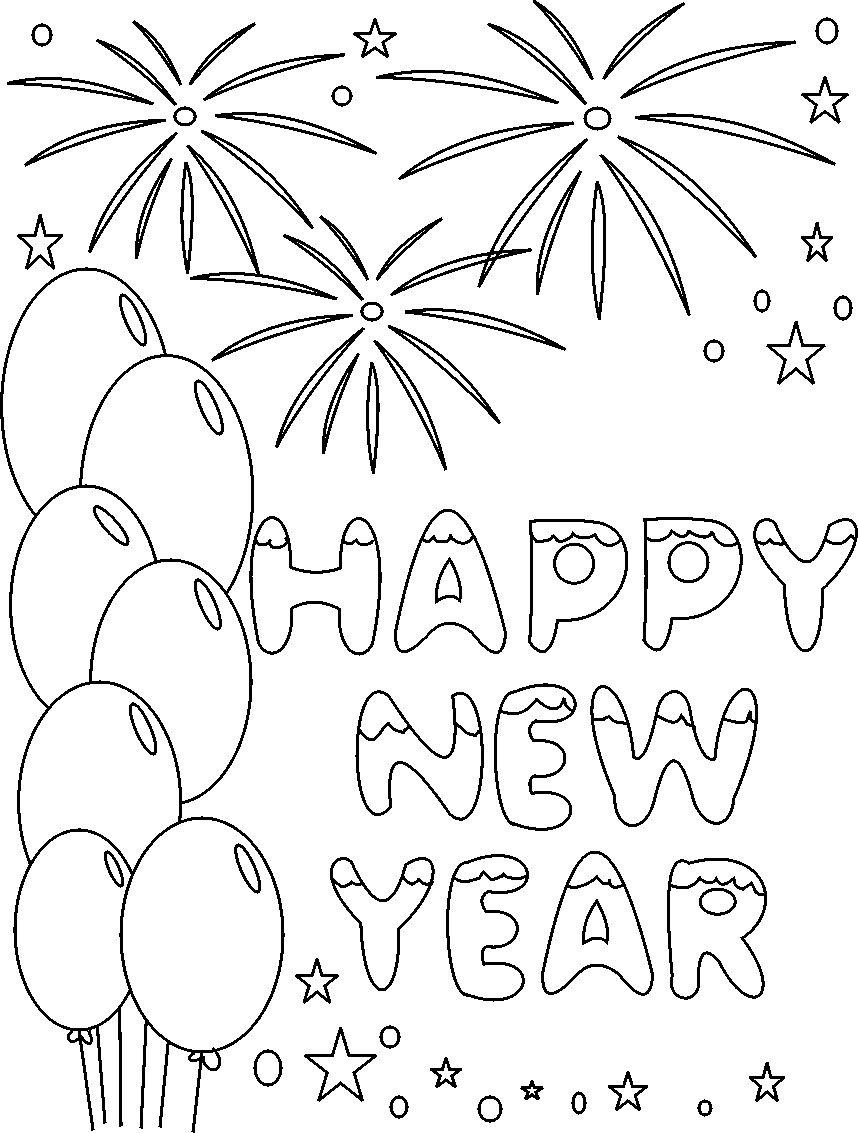 scene new year drawings