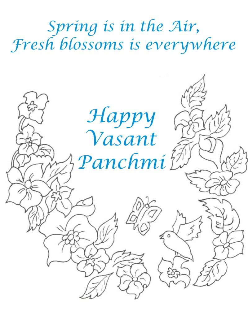 Vansant Panchmi Card 3 Coloring Page For Kids