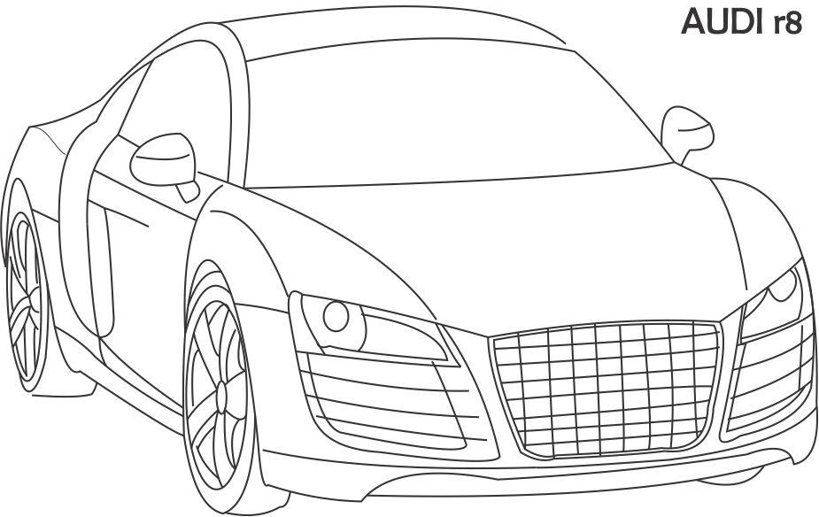 Audi R8 Coloring Pages Printable