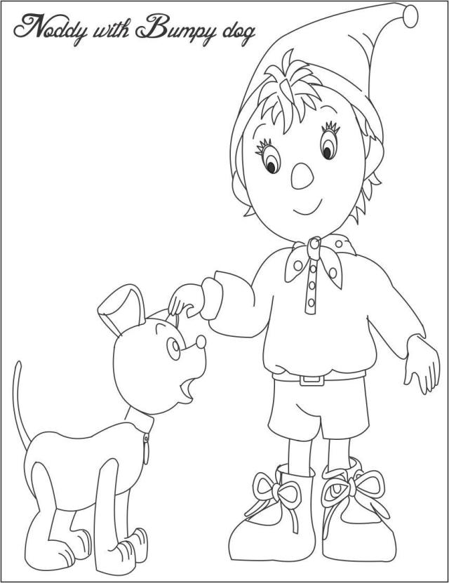 Noddy bumpy dog coloring pages