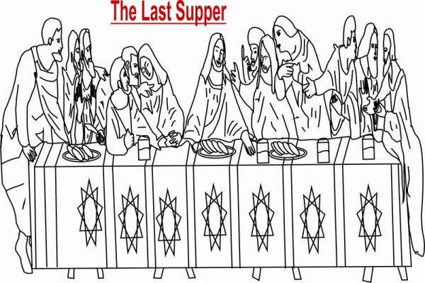 the last supper coloring page # 23