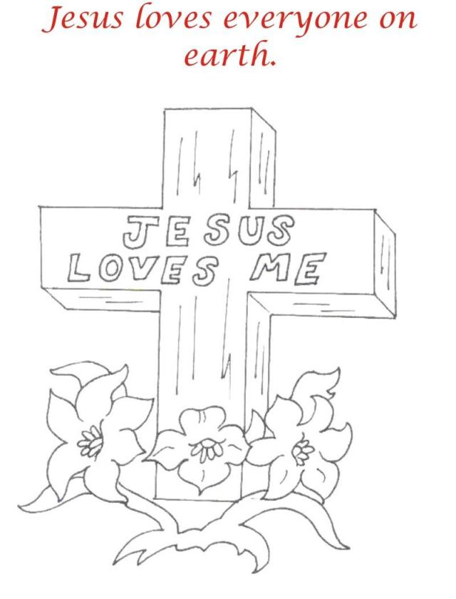 Good Friday coloring printable page for kids 12