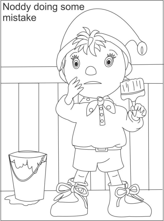 Noddy printable coloring page for kids 25