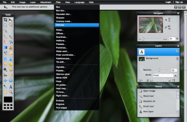 Pixlr online photo editor lightning review