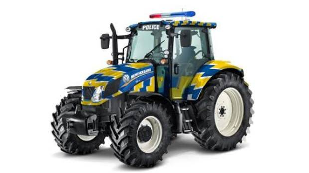 A New Holland tractor is the latest addition to the New Zealand Police fleet.