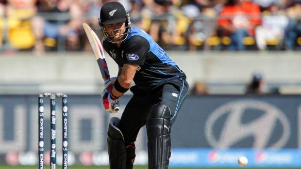 LEADING THE WAY: Brendon McCullum at the crease against the West Indies in Wellington.